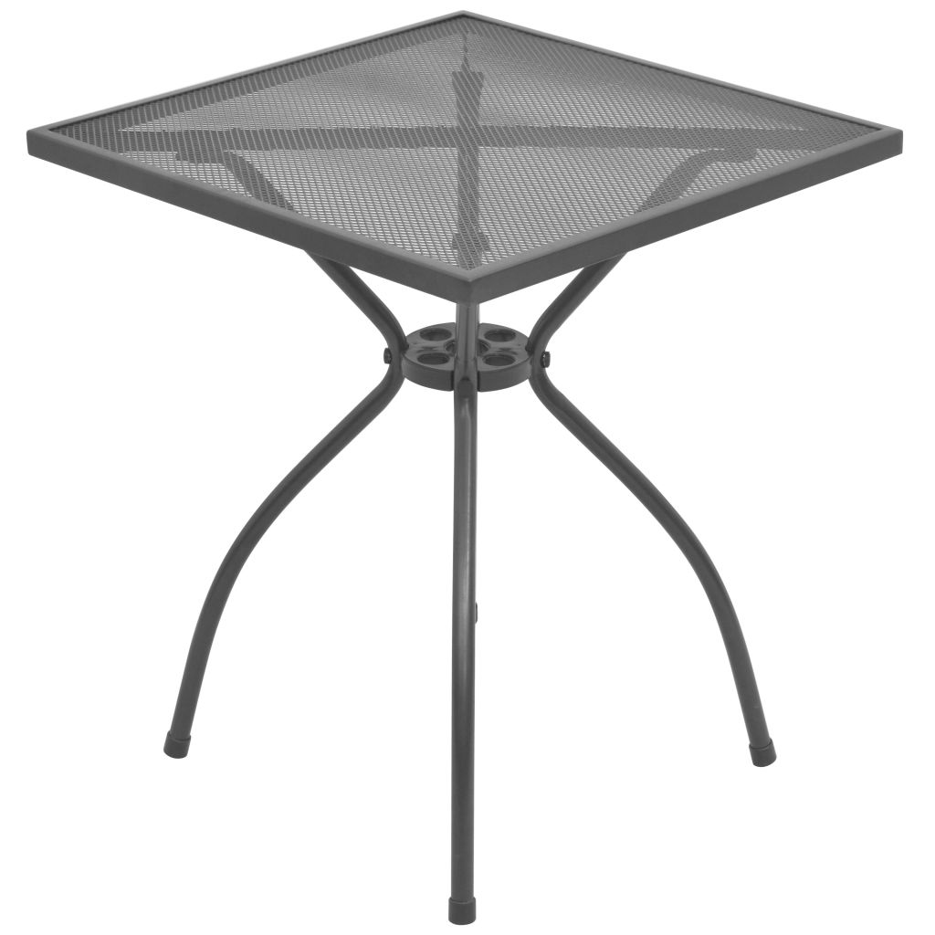 vidaXL Stolik bistro, 60x60x70 cm, stalowa siatka