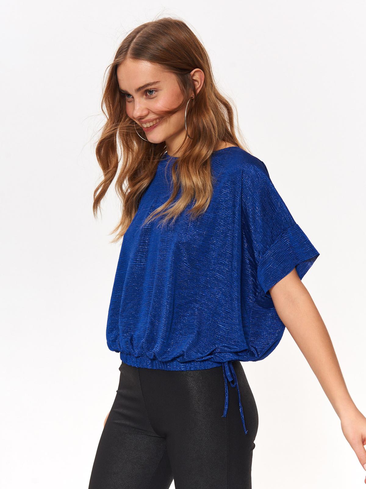 Efektowna bluzka damska z błyszczącej tkaniny